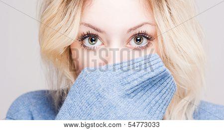 Cute Winter Fashion Girl.