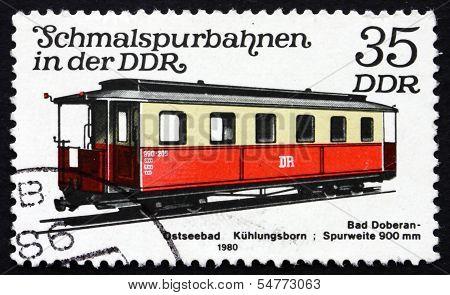Postage Stamp Gdr 1980 Passenger Car, Light Rail
