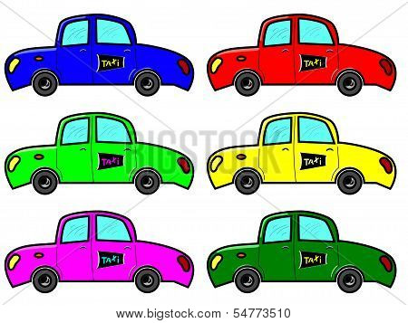 Taxi In Six Colours