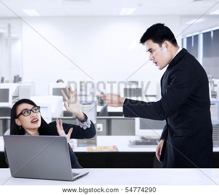 Businessman Yelling At His Employee