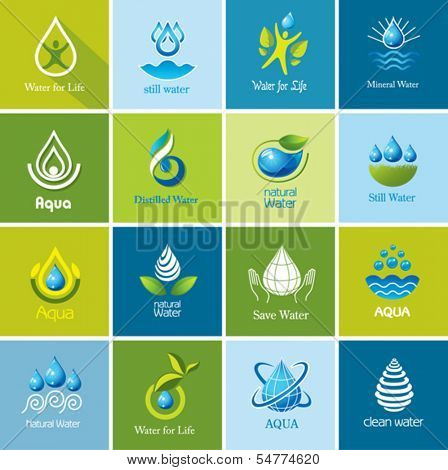 Set of vector Water icons 3.
