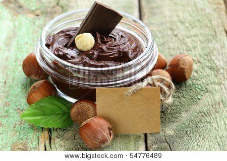 sweet chocolate hazelnut spread