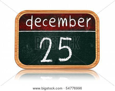 December 25 On Blackboard Banner