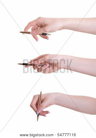 Hand With Pen