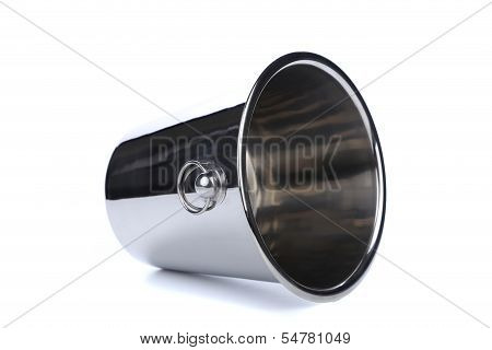 Champagne cooler isolated on white.
