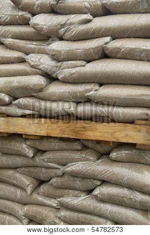 Sandbags At A Construction Site