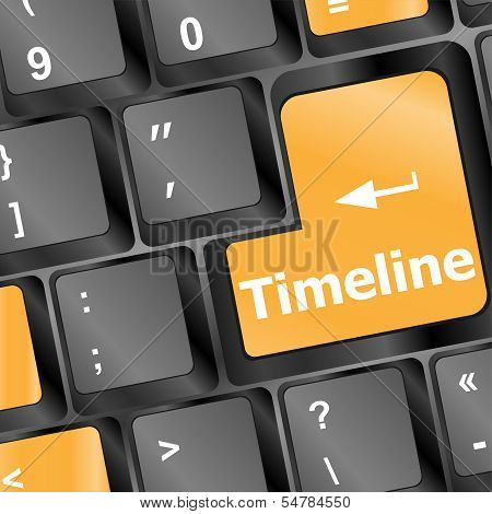 Time Ine Concept - Word On Keyboard