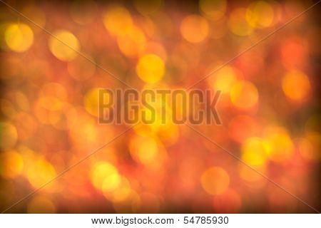 Beautiful Red Golden Bokeh Background