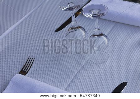 Simple White Place Setting