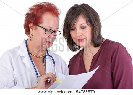 Female Doctor Discussing Ressults With Female Patient