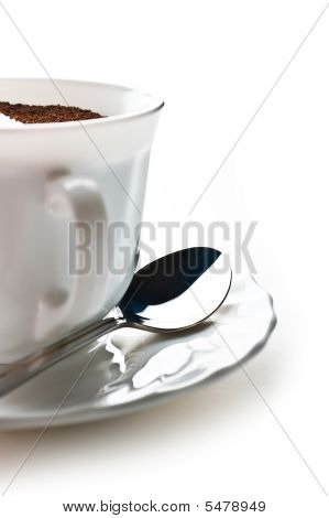 Cup With Ground Coffee