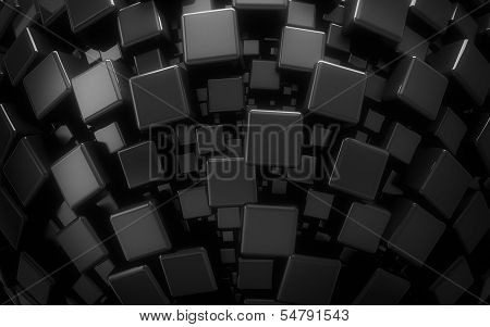black cubes backdrop
