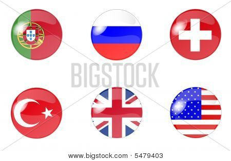 set of buttons with flag 5