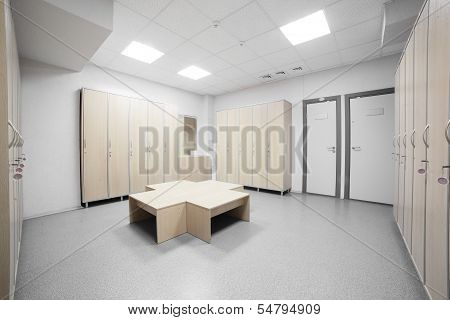 Interior Of A Locker Or Changing Room