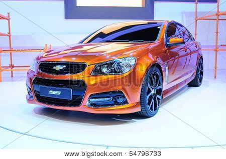 Bkk - Nov 28:the New Chevrolet Ss, Sport Sedan Car, On Display At Thailand International Motor Expo