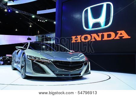 Bkk - Nov 28: Honda Nsx Concept, Hybrid Sport Concept Car, On Display At Thailand International Moto