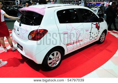 Bkk - Nov 28: Mitsubishi Mirage, Hello Kitty Edition, On Display At Thailand International Motor Exp