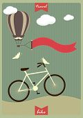 Vintage Background With Bicycle And Place For Your Text