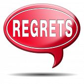 pic of saying sorry  - regret or no regrets saying sorry and offer apologize being ashamed for bad decisions - JPG