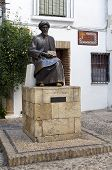 stock photo of rabbi  - Statue of Maimonides in Cordoba Spain - JPG