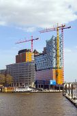 Concert Hall Elbphilharmonie Under Construction In Hamburg, Germ