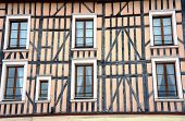 image of tenement  - tenement house in old town of Troyes France - JPG