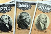 stock photo of treasury  - United States Treasury Savings Bonds  - JPG