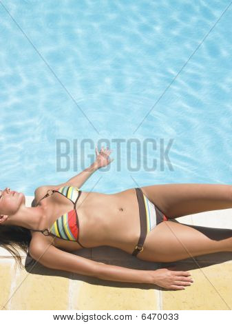 Woman Around Pool