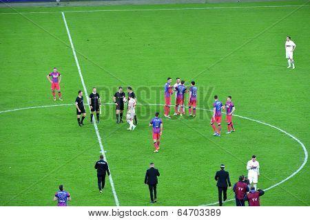 Football Players Of Steaua Bucharest Won Against Dinamo
