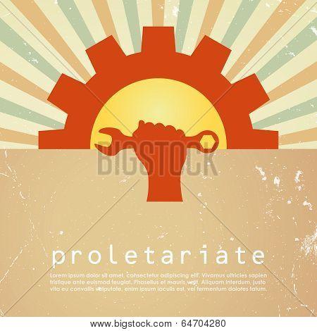 Proletariat vector poster