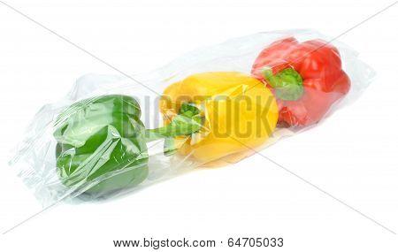 Fresh prepacked paprika peppers