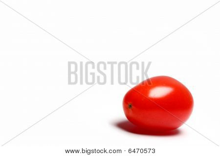 Cherry Tomato On White