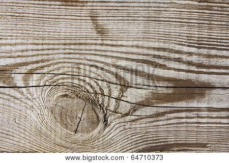 Wood Texture Plank Grain Background, Wooden Desk With Knot, Old Striped Timber Board