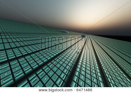 Technology Grid Background