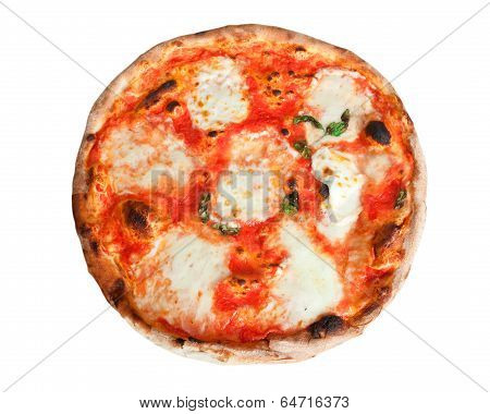 Pizza Margherita With Slices Of Mozzarella