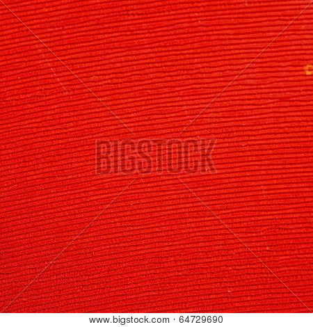 Close up of a red vinyl microgroove