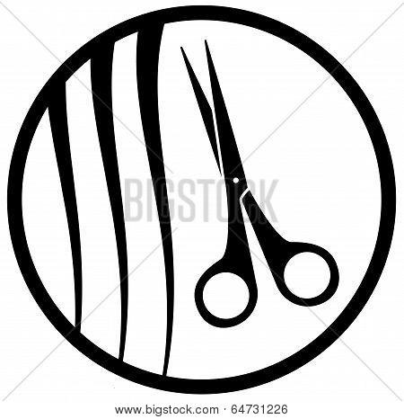 round Hair Salon Icon