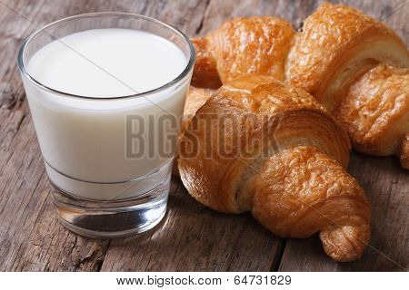 Wholesome Breakfast: Milk And Croissants