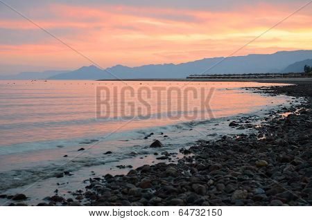 Sunset On The Gulf Of Aqaba