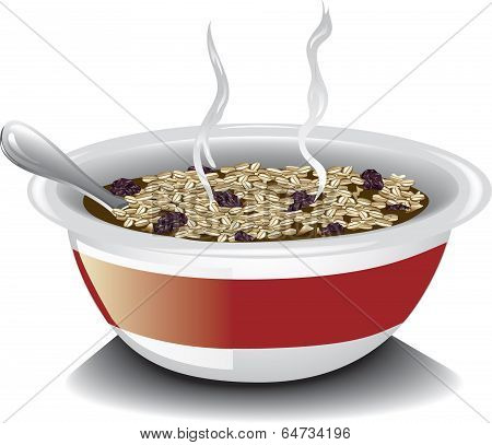Oatmeal with raisins