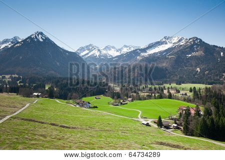 An image of the beautiful alps at Garmisch Partenkirchen Bavaria Germany