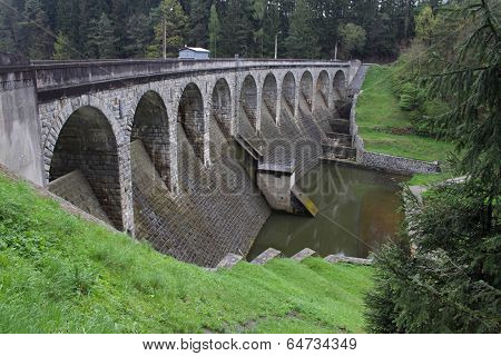 Old dam on the river Zelivka, Czech Republic