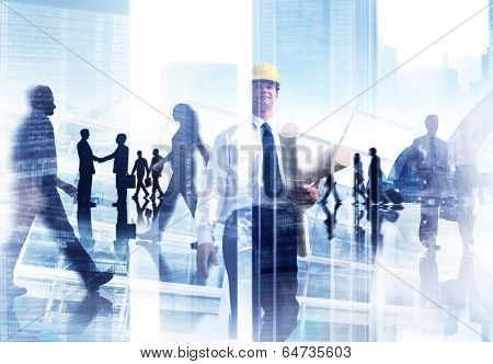 Abstract Image of Professional Busy People