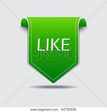 Like Green Label Vector Design