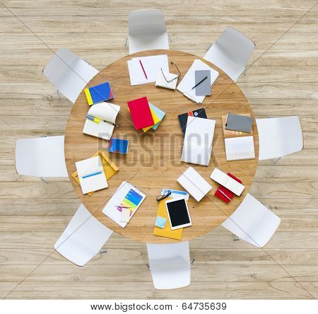 Office Table with Stationary
