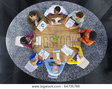 Group of Multiethnic Business People in a Meeting