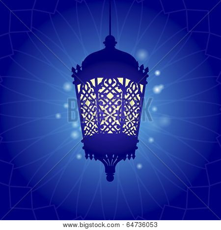 Traditional ramadan light graphic
