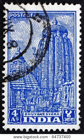 Postage Stamp India 1951 Bhuvanesvara Temple