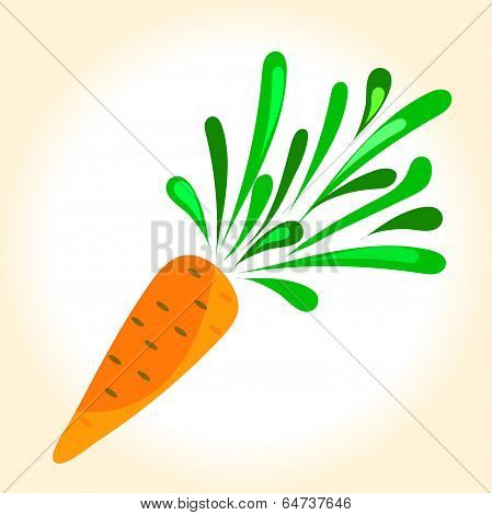 Illustration Of A Ripe Orange Carrot