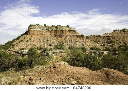 Rock Formation at Palo Duro Canyon